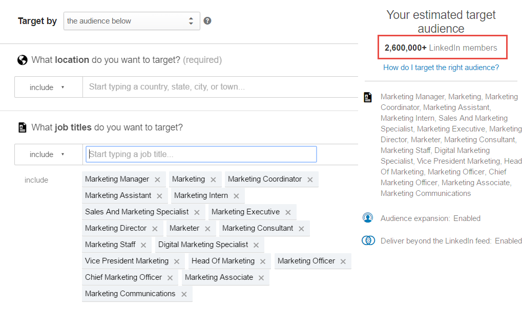 LinkedIn Marketing Automation ads