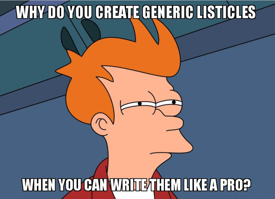 how to write listicles