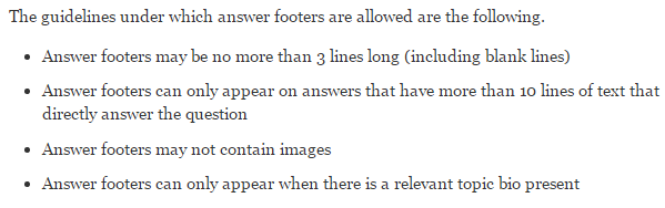 Rules for Footnotes