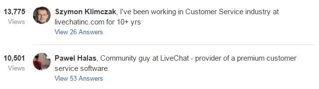 2 Quora profiles