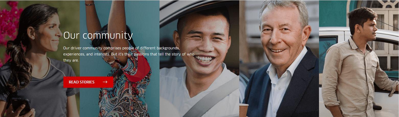 Uber landing page hero