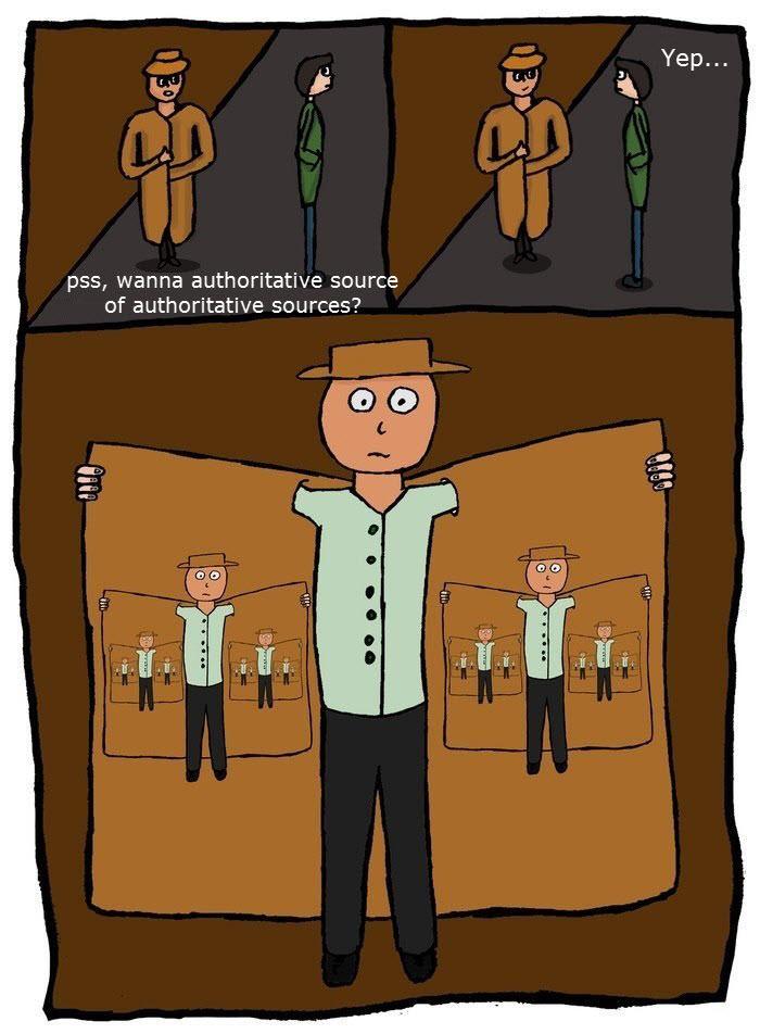Authoritative source of authoritative sources cartoon