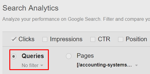 search analytics queries